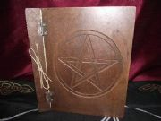 Aged Effect Blank Spell Book Wiccan Pagan